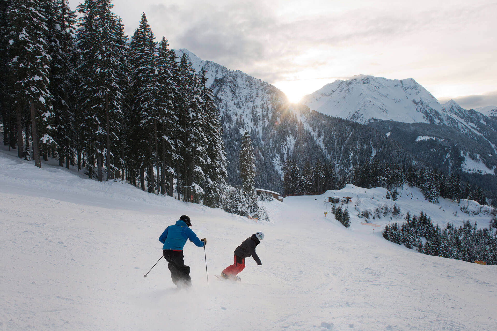 Skifahren am Ahorn