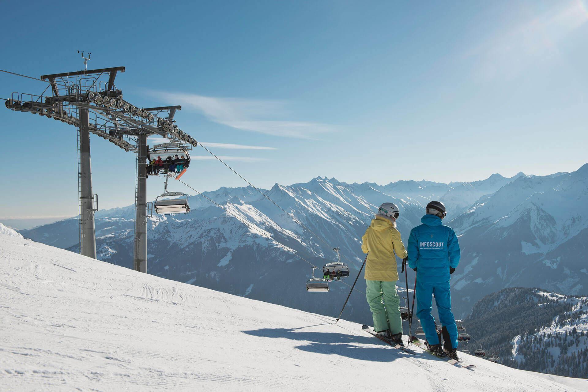 Skifahren am Penken